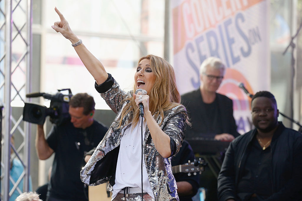 Celine Dion in head-to-toe sequins is what the world needs right now