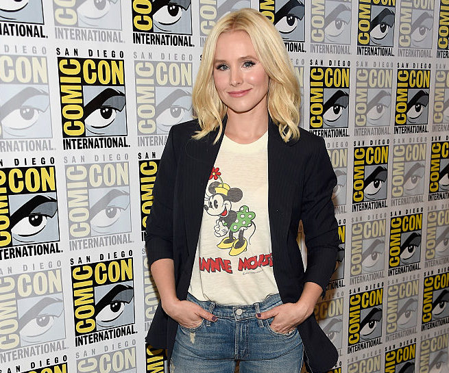Real-life Disney princess Kristen Bell just rocked a Minnie Mouse shirt in a way only she can