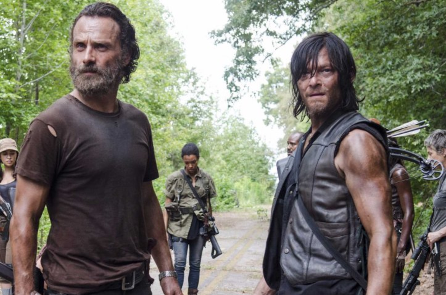 """Andrew Lincoln and Norman Reedus are in a glitter bomb prank war on """"The Walking Dead,"""" because of course they are"""
