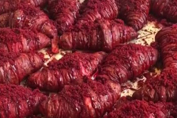 These red velvet croissants look like incredible vampire food