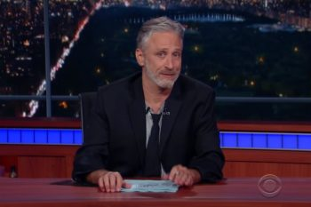 Jon Stewart came back to TV last week and he was as perfect as ever