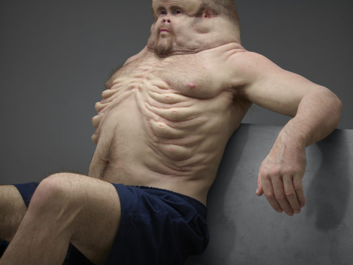 """This sculpture of a """"crash-proof human body"""" is seriously freaking out the internet"""