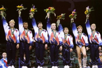 The Magnificent Seven gymnasts took the most awesome reunion photo