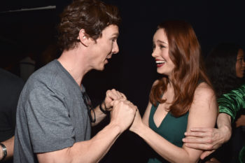 Here we have Brie Larson meeting Benedict Cumberbatch and freaking out, because she's only human