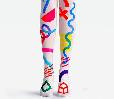 Prepare yourself: You'll want to buy every pair of these bright, gorgeous graphic tights