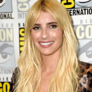 Emma Roberts' animal print suit makes her look like a modern Buffy the Vampire Slayer