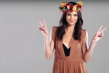 Kendall Jenner shows off retro '70s fashion, wants you to rock the vote