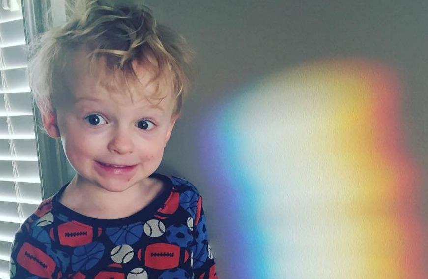 Chris Pratt's toddler son talks like a comic book villain, and it's adorable
