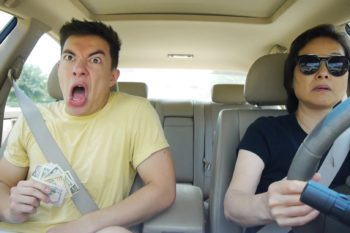 This guy hilariously lip-synching in the car is all of us on a road trip