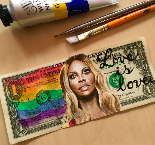 This artist replaced faces on dollar bills with historical and pop-culture icons, and the results are beautiful