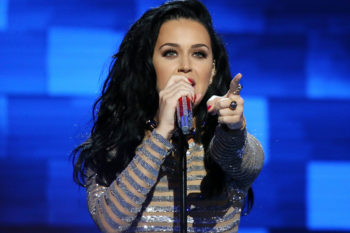 Katy Perry slayed at last night's DNC, and BF Orlando Bloom dutifully recorded it all