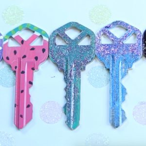 These easy, cute DIY keys are our next project