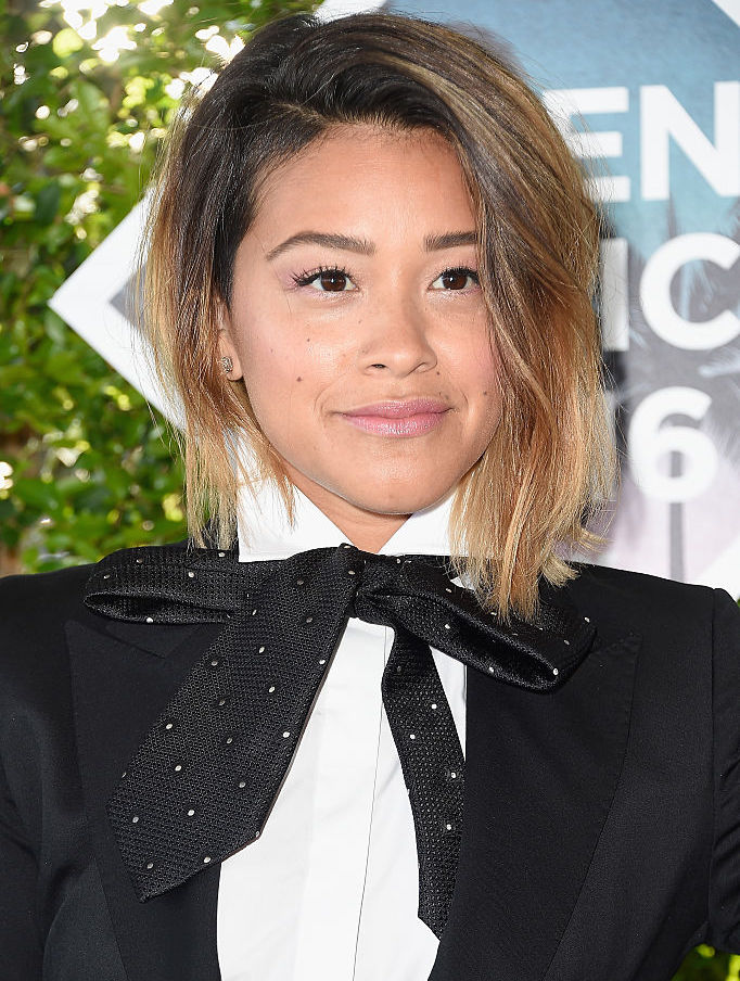 "Gina Rodriguez looks like a ""The Nightmare Before Christmas"" character is this sleek suit"