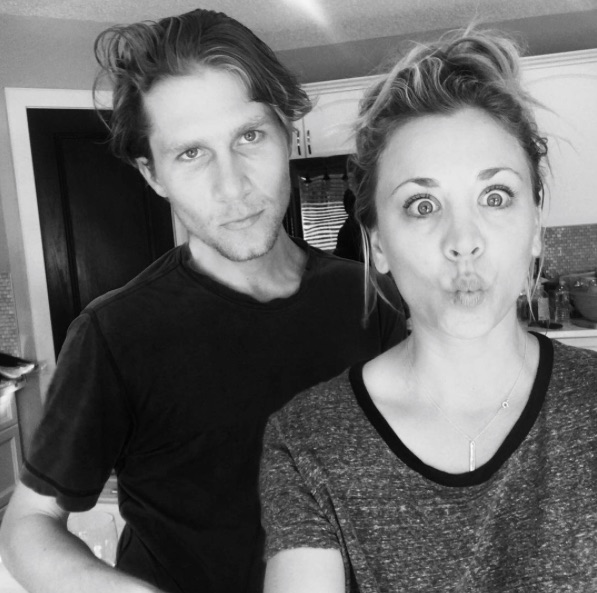 """The Big Bang Theory's"" Kaley Cuoco posted a crazy cute tribute to her boyfriend"
