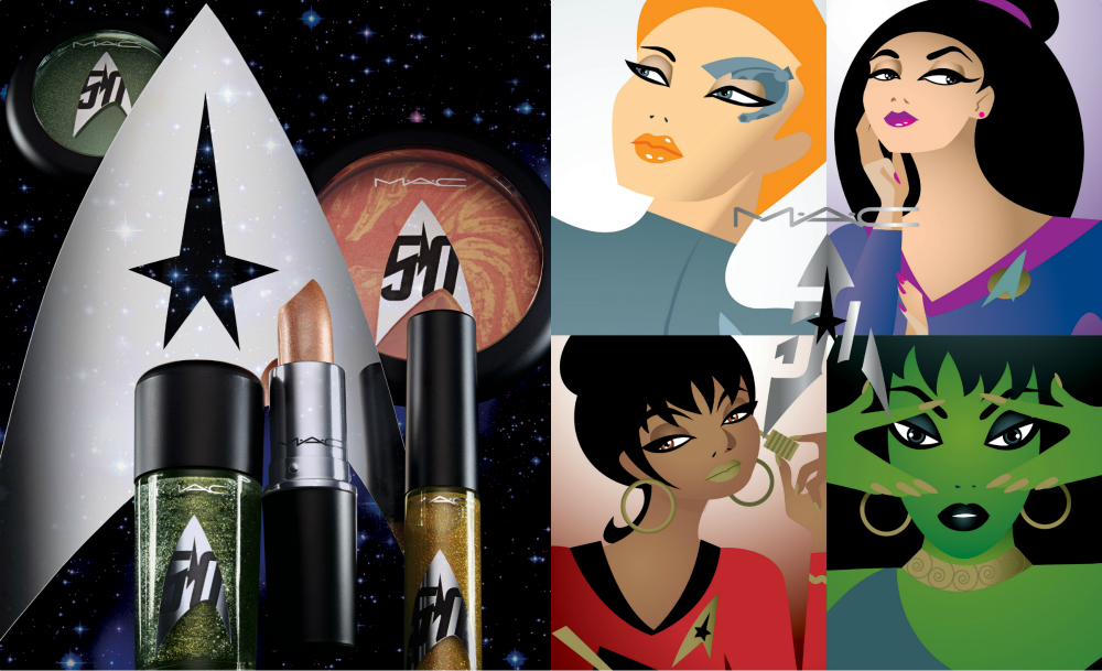 Here is the complete look at MAC Cosmetics' stunningly cosmic Star Trek collection