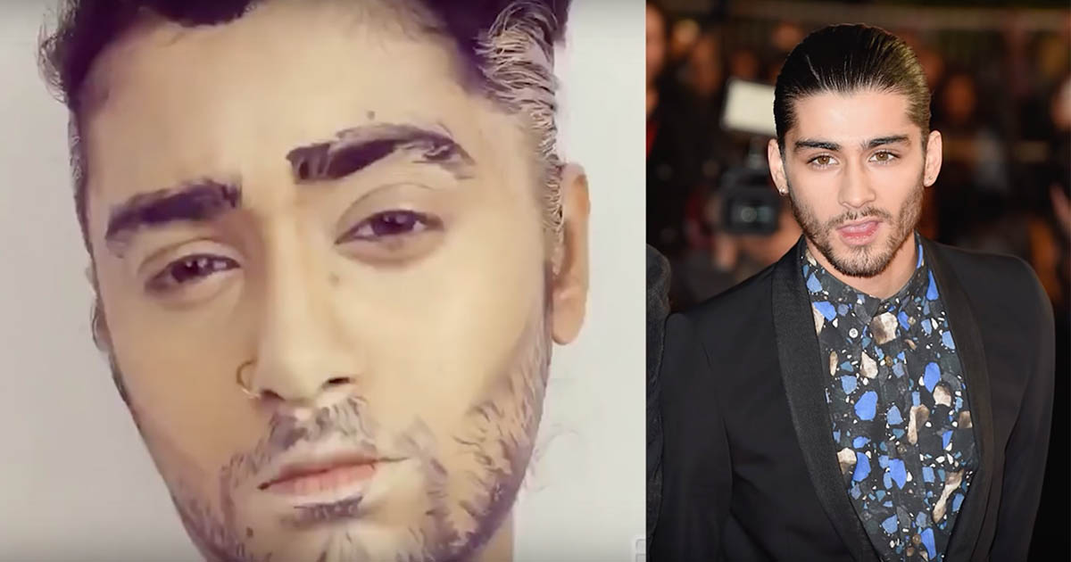 This girl made people think she was Zayn Malik just by using makeup