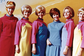 12 photos of insanely chic flight attendants' uniforms throughout aviation history