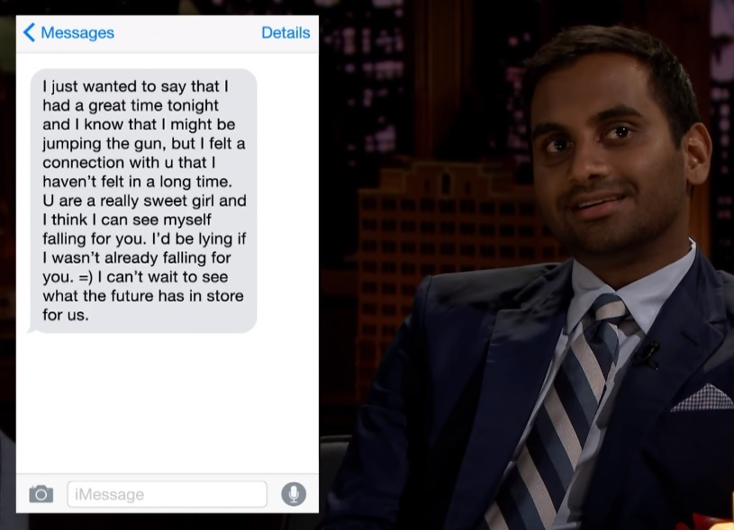 "Aziz Ansari reading ""love texts"" on 'Jimmy Fallon' is pretty much the best thing you'll see today"