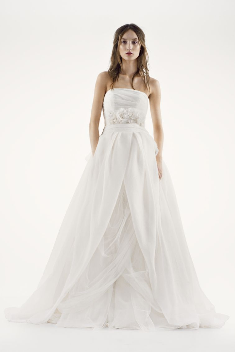 The 1 best selling wedding dress at david 39 s bridal is a for Vera wang wedding dresses prices list