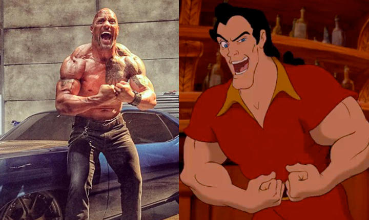 "The Rock and Lin-Manuel Miranda sang 'Gaston' from ""Beauty and the Beast,"" and it was a dream come true"