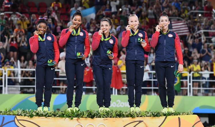 The U.S. women's gymnastics team won gold because they are obviously unstoppable