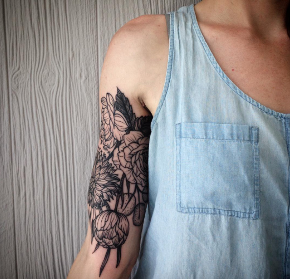 These gorgeous floral tattoos will turn your body into a garden in the best way