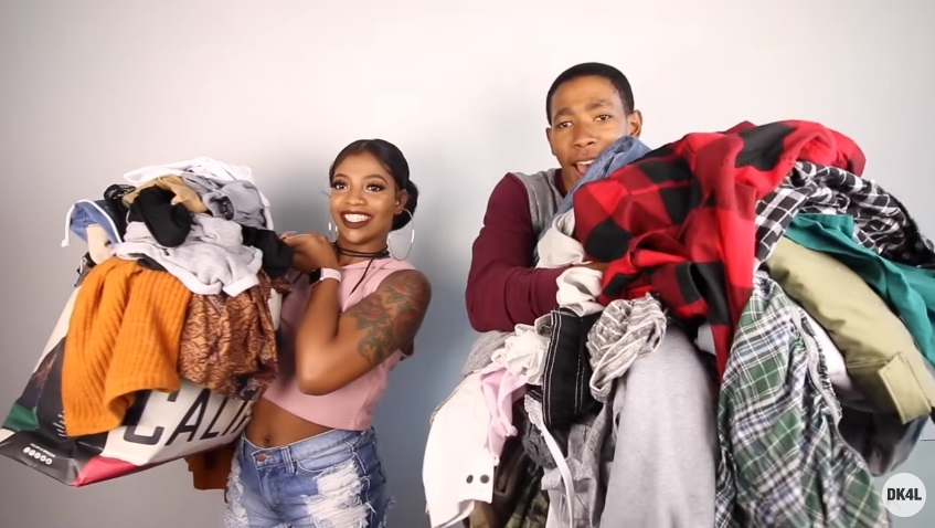 A couple tried to put on 100 layers of clothing because of course they did