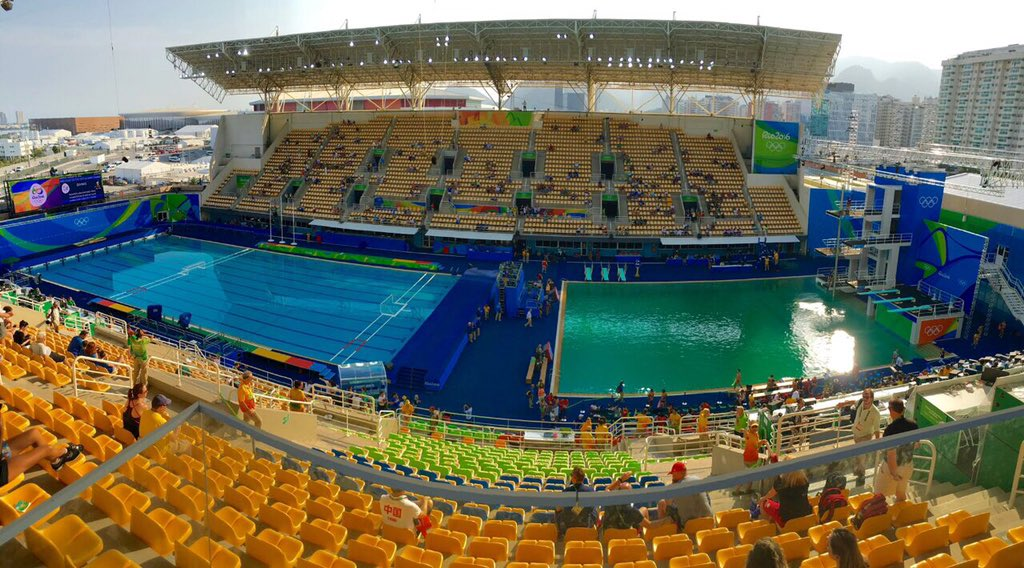 This is probably what turned the Olympics diving pool green — and it's gross