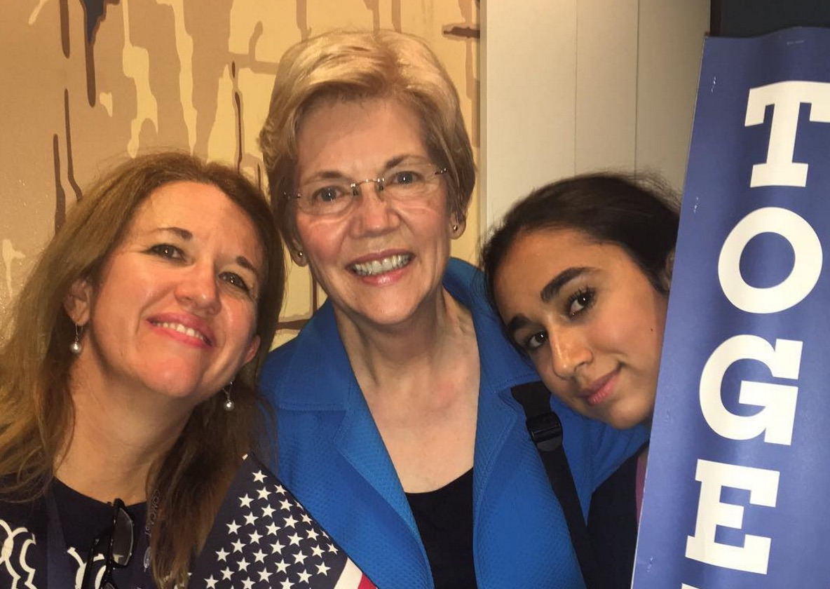 """Elizabeth Warren says, """"Trump can't stand that he's losing to a girl,"""" and we're cheering until infinity"""