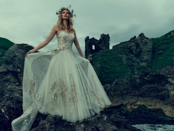 Bhldn 39 s fall wedding collection looks like it was inspired for Sleeping beauty wedding dress