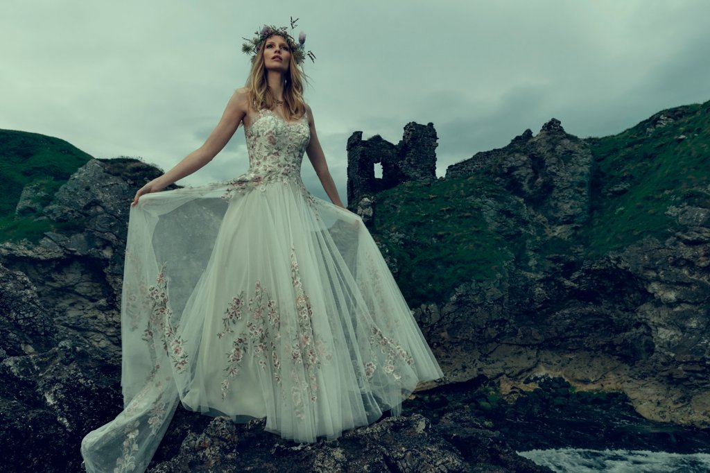 "BHLDN's fall wedding collection looks like it was inspired by ""Sleeping Beauty"""