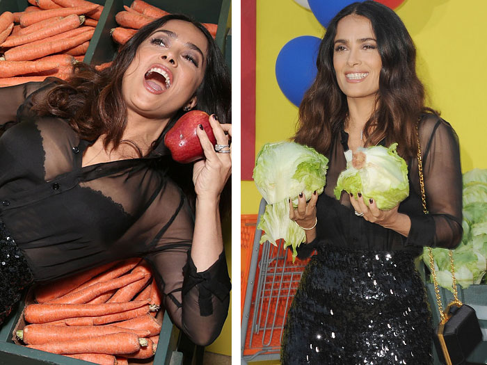 "Salma Hayek went totally off the rails at the ""Sausage Party"" premiere, and it's hilariously awesome"
