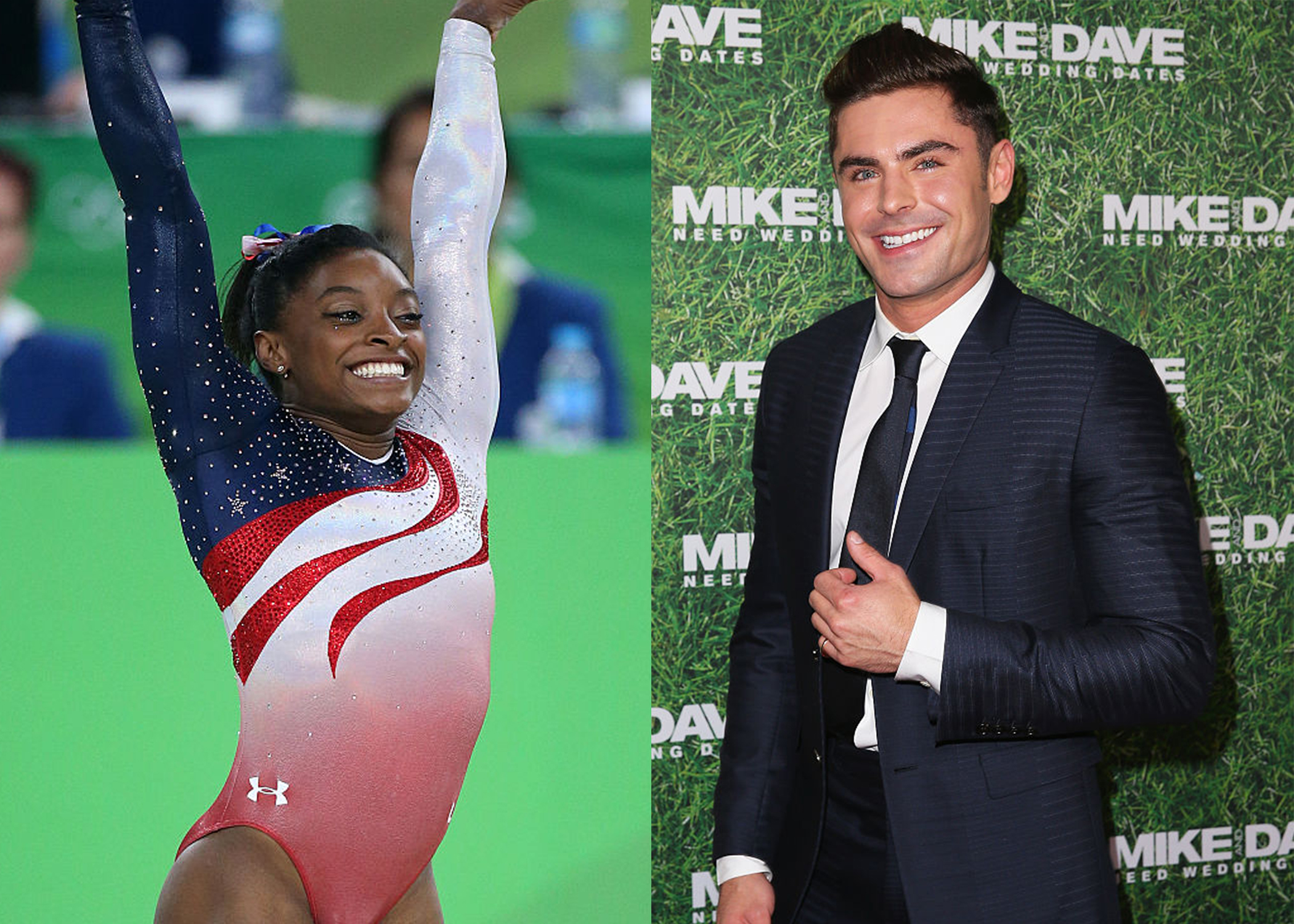Simone Biles and Zac Efron have been Twitter flirting, and we are shipping #Befron