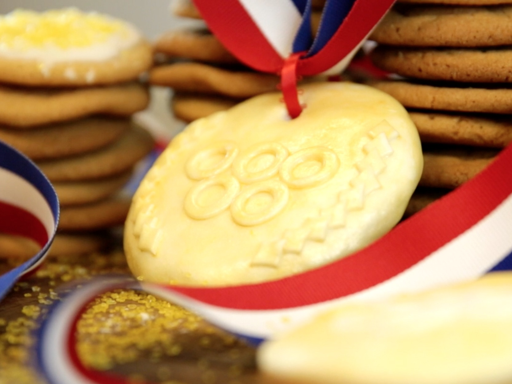 And the gold medal goes to… these delicious Olympics-inspired sugar cookies!