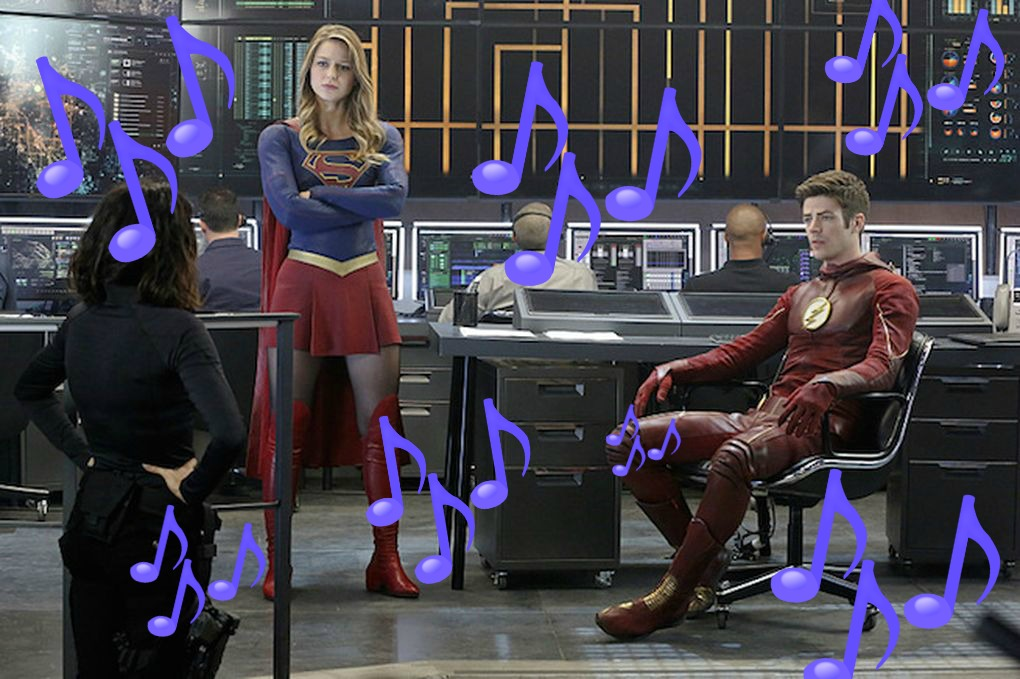 """There will be a musical cross-over episode of """"Supergirl"""" & """"The Flash"""" and our hearts are SINGING"""