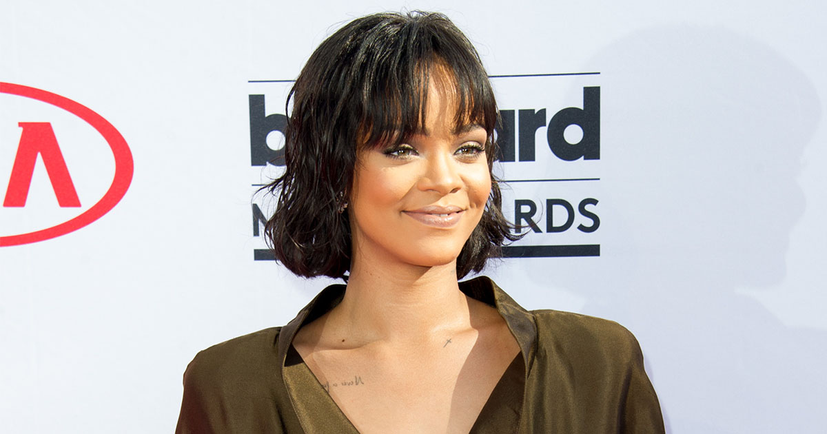 We need to talk about Rihanna's fluffy heart shaped red cape