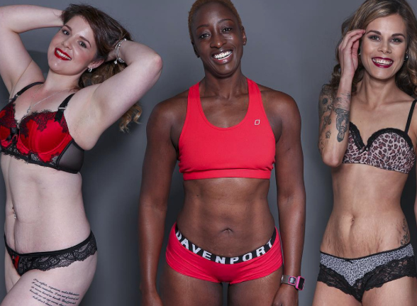 This inspiring photo project captures 100 different women in lingerie