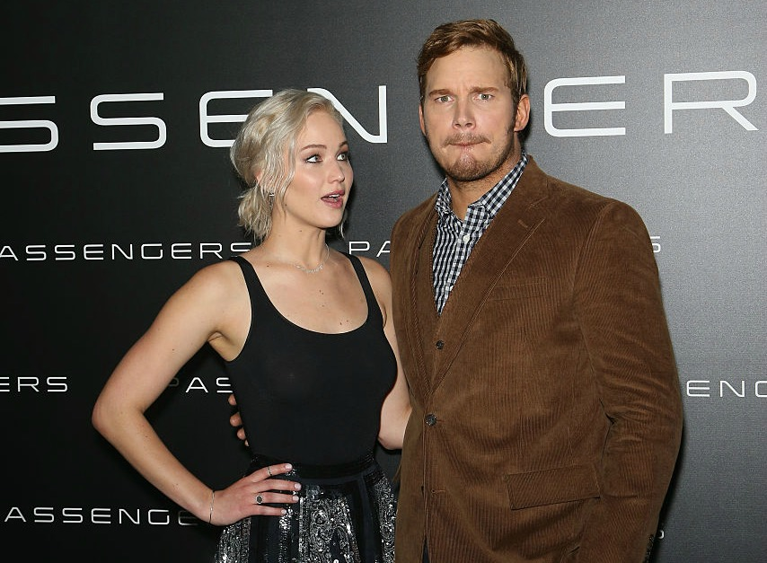 We FINALLY  have photos from Jennifer Lawrence and Chris Pratt's new romantic space movie