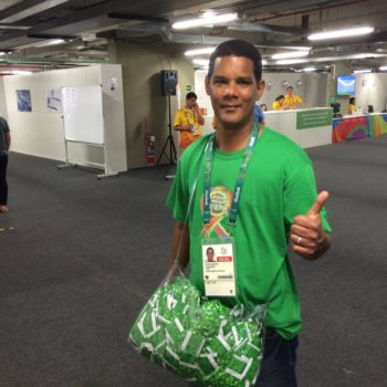 Our gold medal goes to this nice dude handing out free condoms at the Olympics