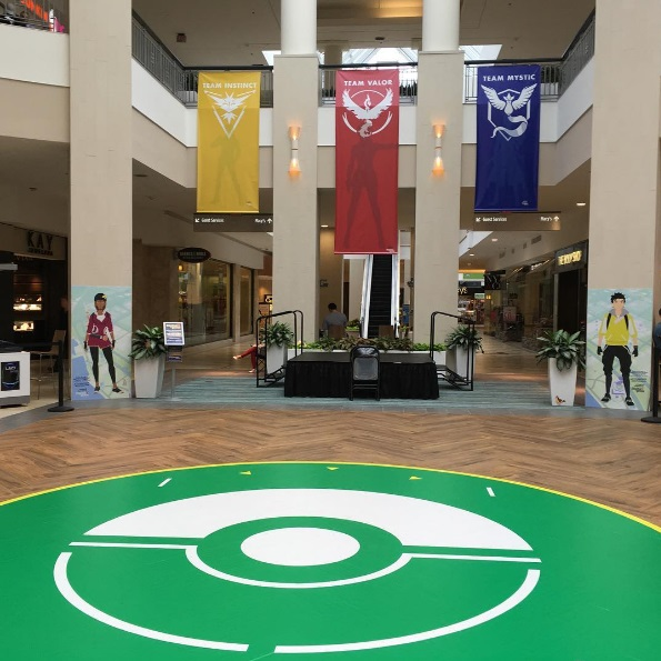 This mall just FULLY embraced its Pokémon gym and we wanna go!