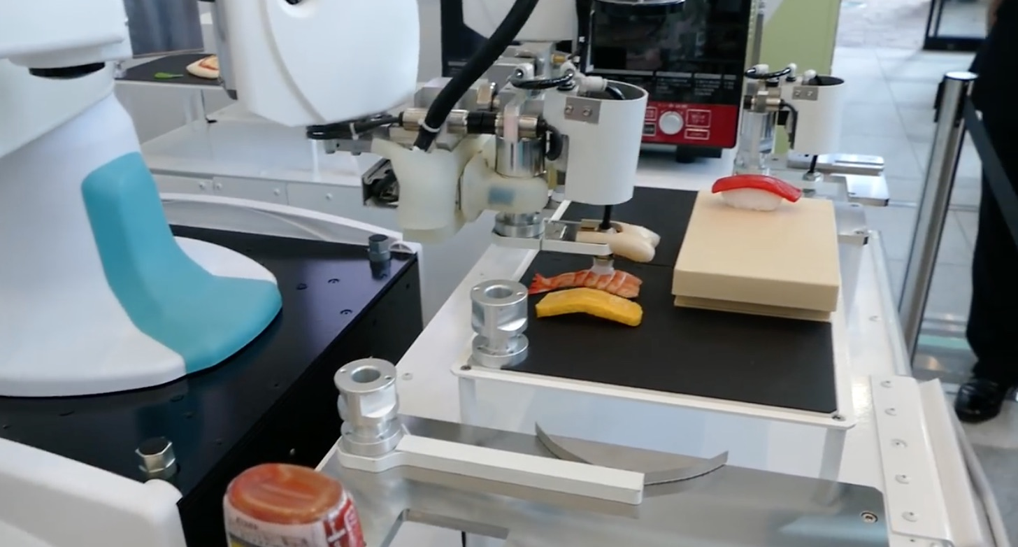 We can't stop watching this video of a robot making sushi