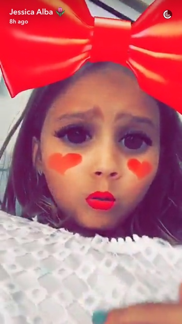 Jessica Alba's daughter took over her Snapchat and she knows how to rock a filter
