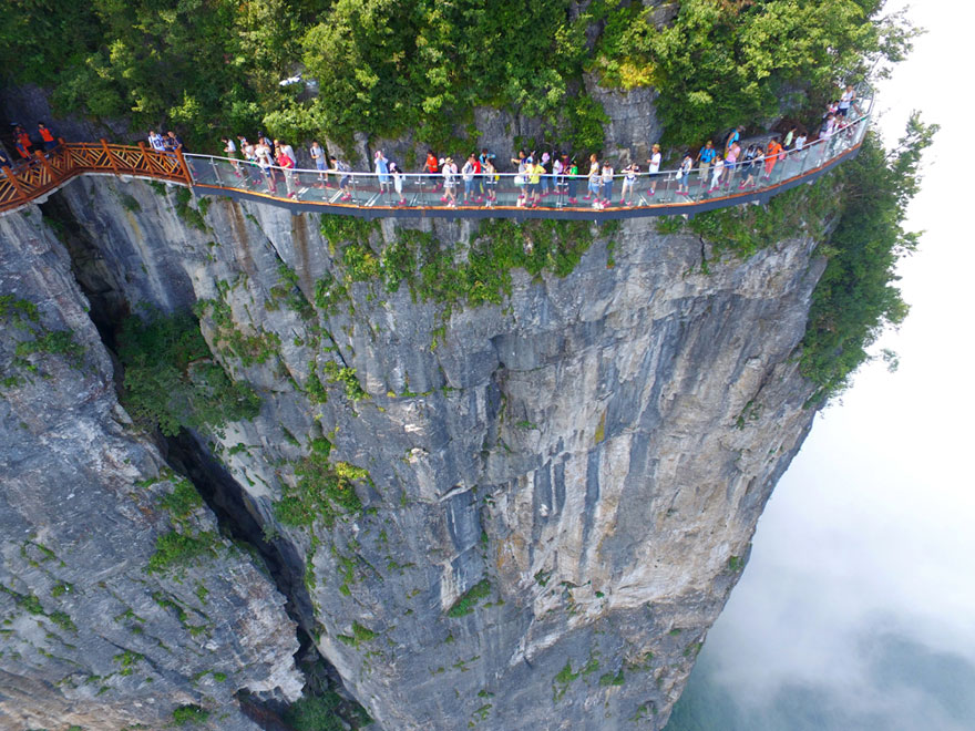 No big deal, this is just a 4,000-foot high glass bridge in China that will make you panic