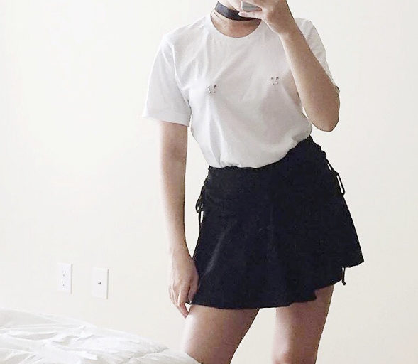 Pierced nipple t-shirts is the newest style trend for when you don't want to FULLY commit