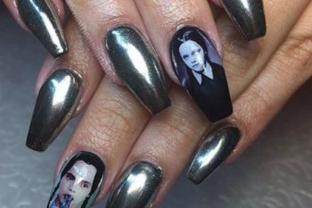 These nail decals featuring Wednesday Addams, Frida Kahlo, and more of our faves deserve your immediate attention