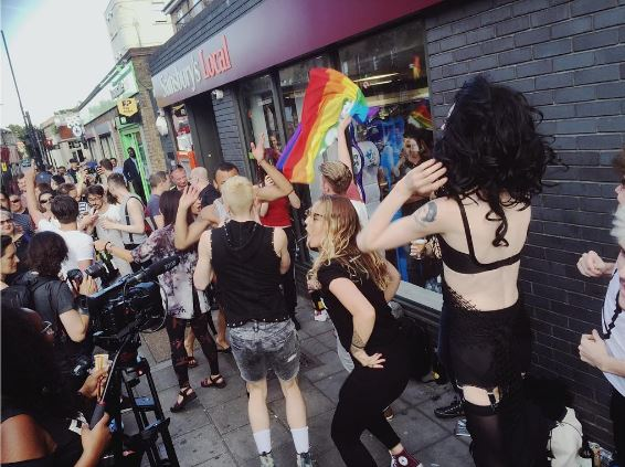 YES: Hundreds of people staged a kiss-in to protest a store's anti-LGBTQ actions
