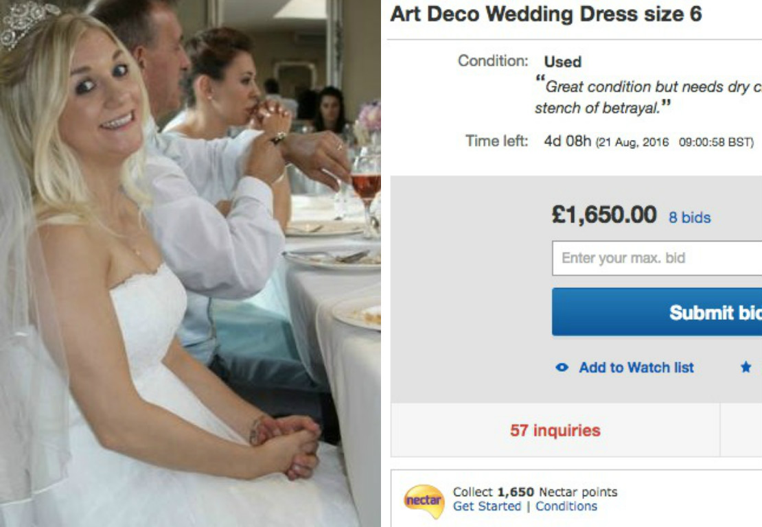 What this woman did with her wedding dress after her husband cheated on her is epic