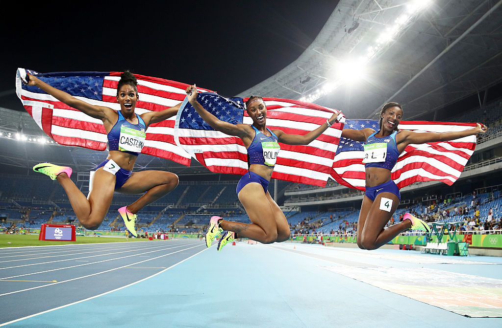 These three American ladies swept the Olympic 100-meter Hurdles because girl power