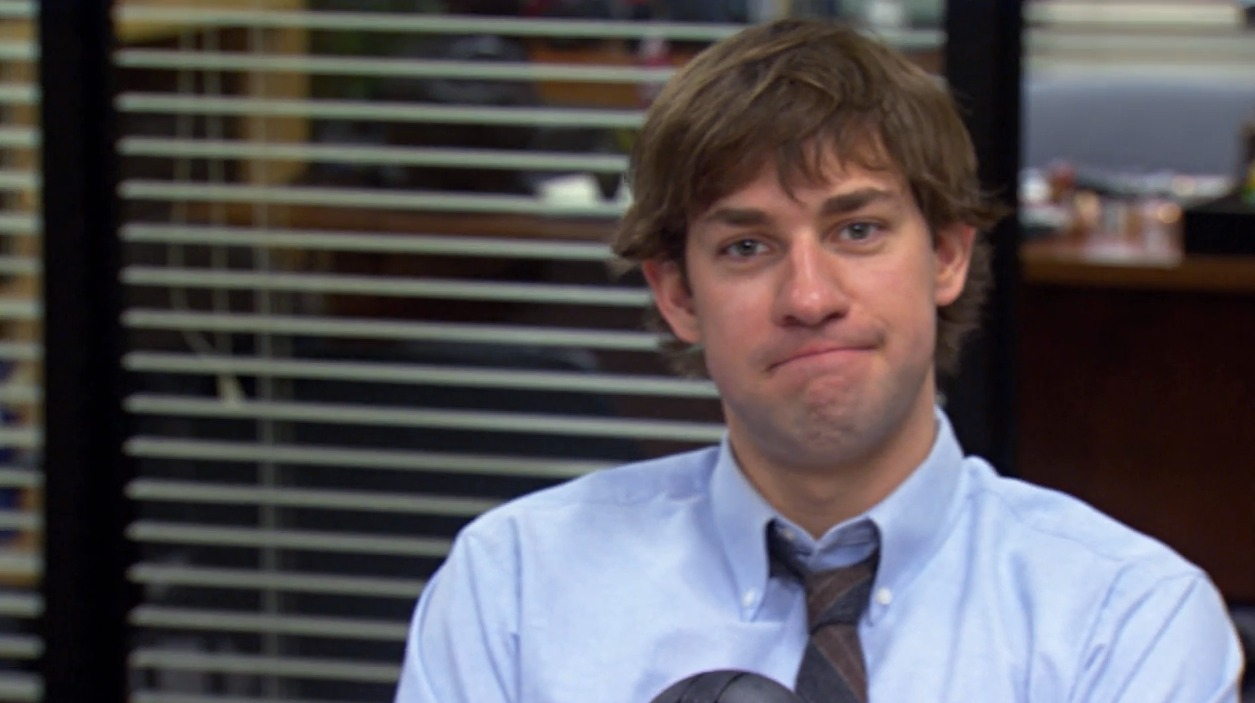 "You probably missed this sneaky moment in ""The Office,"" says John Krasinski (aka JIM!)"