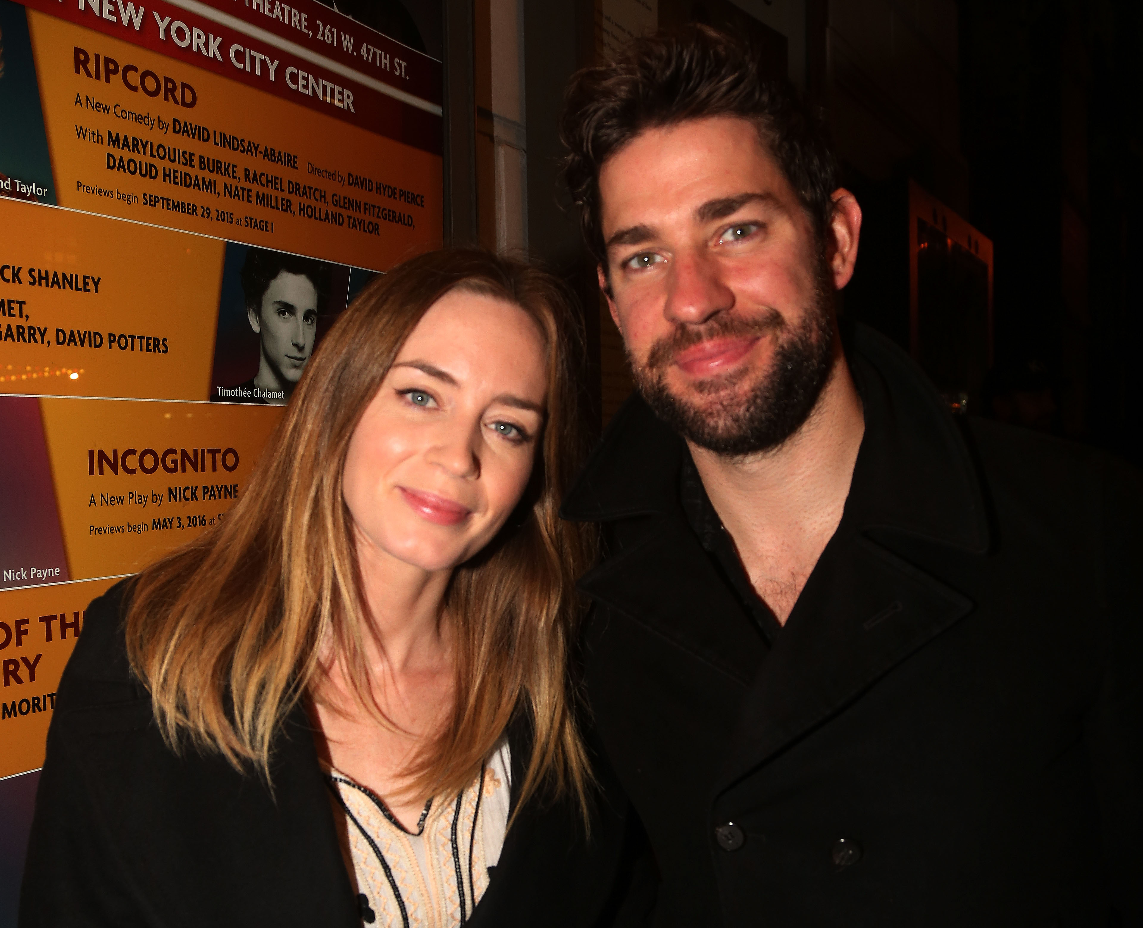 Emily Blunt and John Krasinski make first red carpet appearance after welcoming daughter Violet, and they're glowing!